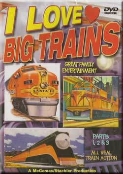 I Love Big Trains Parts 1, 2, 3 Train Video TM Books and Video TM-ILBT123 780484634532