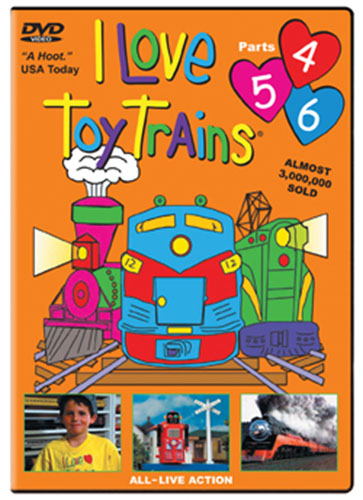 I Love Toy Trains Parts 4 5 6 Train Video TM Books and Video TM-ILTT456 780484631739