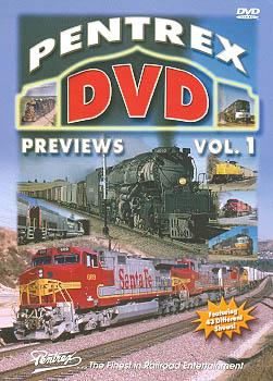 Pentrex DVD Previews Vol 1 Train Video Pentrex PDP1-DVD 748268004377
