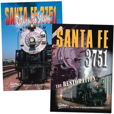 Santa Fe 3751 - The Restoration & Return to Steam 2 DVD Set Pentrex 3751-KIT