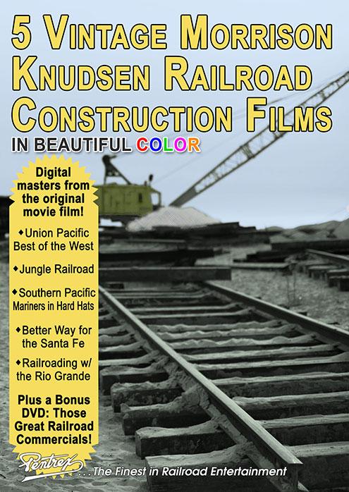5 Vintage Morrison Knudsen Railroad Construction Films 6-DVD Set Pentrex MK6-DVD 634972958870