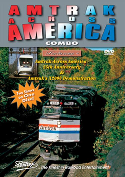 Amtrak Across America Combo DVD Train Video Pentrex AMTRX-DVD 748268005688