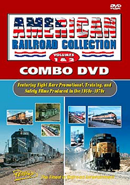 American Railroad Collection Vols 1 & 2 Combo DVD Pentrex ARC12-DVD 748268003936