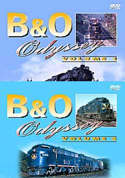 B and O Odyssey  2-DVD Set Vols 1 and 2 Train Video Pentrex BO-SET
