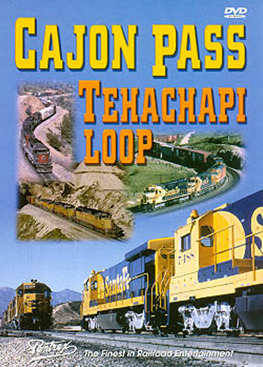 Cajon Pass Tehachapi Loop DVD Train Video Pentrex CAJON-DVD 748268004292