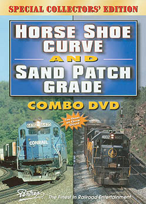 Horse Shoe Curve and Sand Patch Grade Combo DVD Train Video Pentrex CPATCH-DVD 748268004629