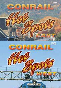 Conrail Hot Spots 2-DVD Set East and West Train Video Pentrex CRHOT-SET