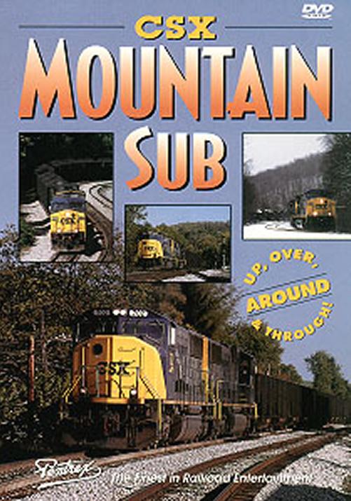 CSX Mountain Sub DVD Train Video Pentrex CSXM-DVD 748268003851