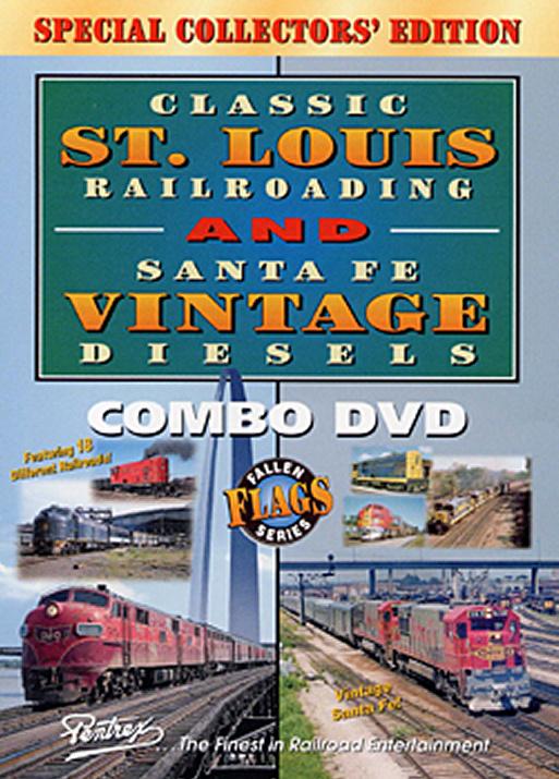 Classic St. Louis Railroading - Santa Fe Vintage Diesels - Combo DVD Pentrex FFS14-DVD 748268004063