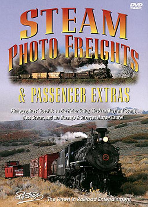 Steam Photo Freights & Passenger Extras DVD Train Video Pentrex FPX-DVD 748268003813