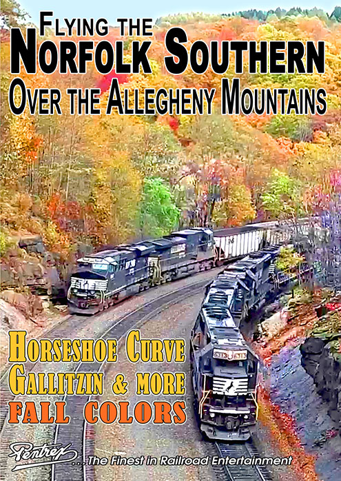 Flying the Norfolk Southern Over the Allegheny Mountains DVD Pentrex FLYNS-DVD