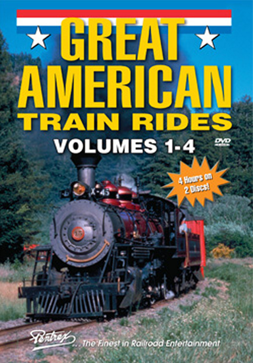 Great American Train Rides Volumes 1-4 2-DVD Set Pentrex GATR-DVD 748268005770