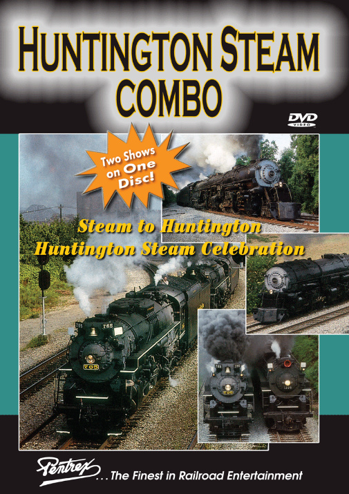 Huntington Steam Combo DVD Train Video Pentrex HSC-DVD 748268006463