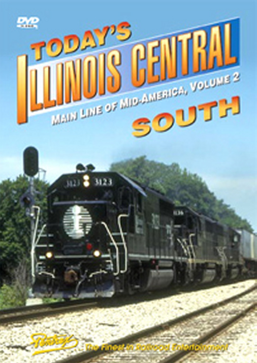 Todays Illinois Central South DVD Train Video Pentrex ICS-DVD 748268005053