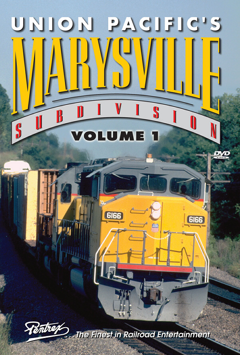 Union Pacifics Marysville Subdivision Volume 1 DVD Train Video Pentrex MVS1-DVD 746268006036