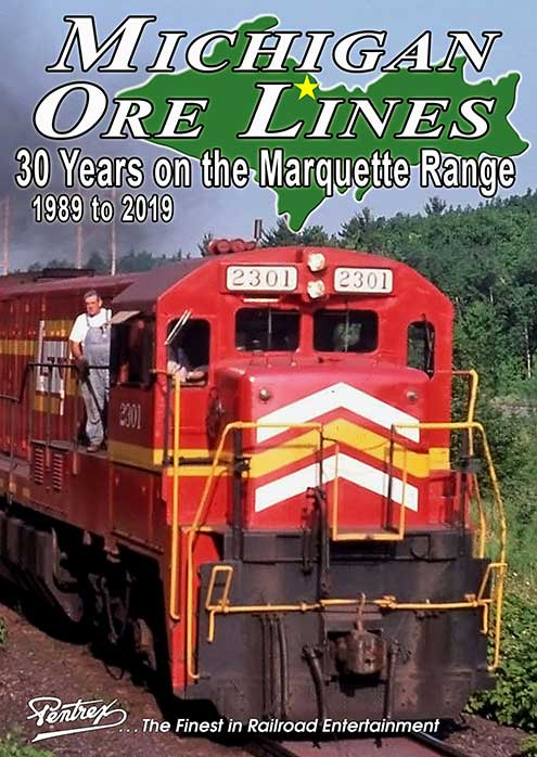 Michigan Ore Lines 30 Years on the Marquette Iron Range 1989-2019 DVD Pentrex MICH-DVD 634972958771