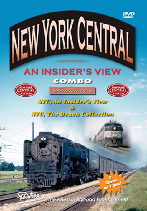 New York Central - An Insiders View Combo DVD Train Video Pentrex NYCENT-DVD 748268005817