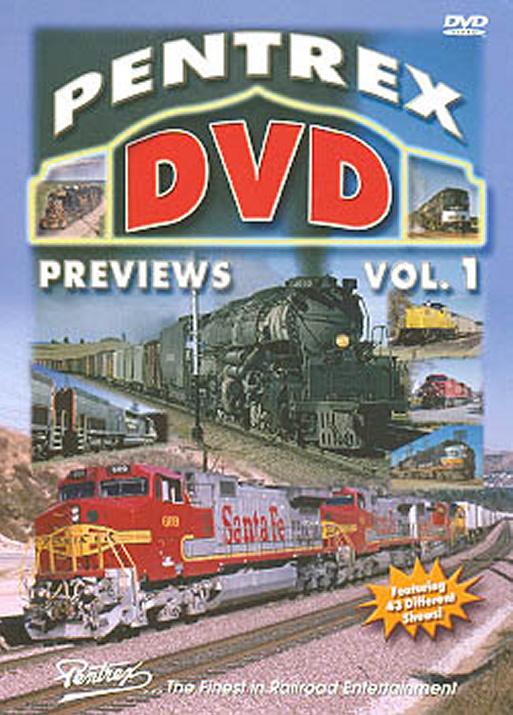Pentrex DVD Previews Vol 1 DVD Train Video Pentrex PDP1-DVD 748268004377