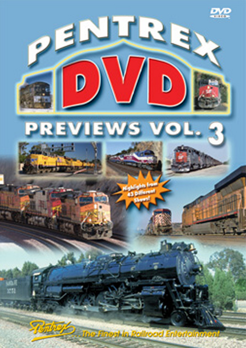 Pentrex DVD Previews Vol 3 DVD Train Video Pentrex PDP3-DVD 748268005459