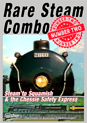 Rare Steam Combo 2 Steam to Squamish and 614 Chessie Safety Express DVD