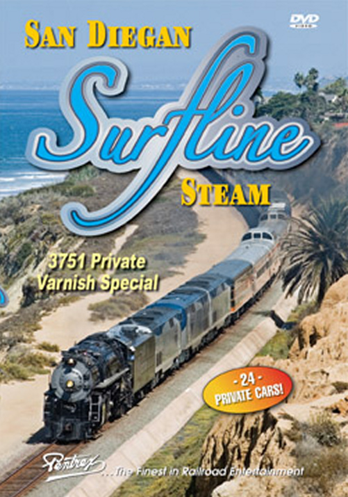 San Diegan Surfline Steam 3751 Private Varnish Special DVD Train Video Pentrex SAN-DVD 748268005367