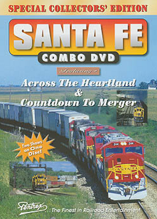 Santa Fe Combo DVD Train Video Pentrex SFMERGE-DVD 748268004650