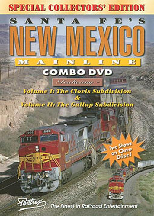 Santa Fes New Mexico Mainline Combo DVD Train Video Pentrex SFNM-DVD 748268004582