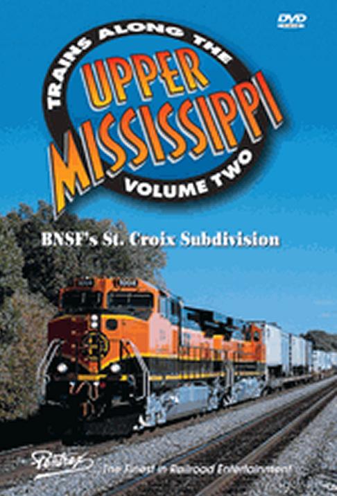 Trains Along the Upper Mississippi Vol 2 BNSF St Croix Sub DVD Pentrex TAUM2-DVD 748268005947