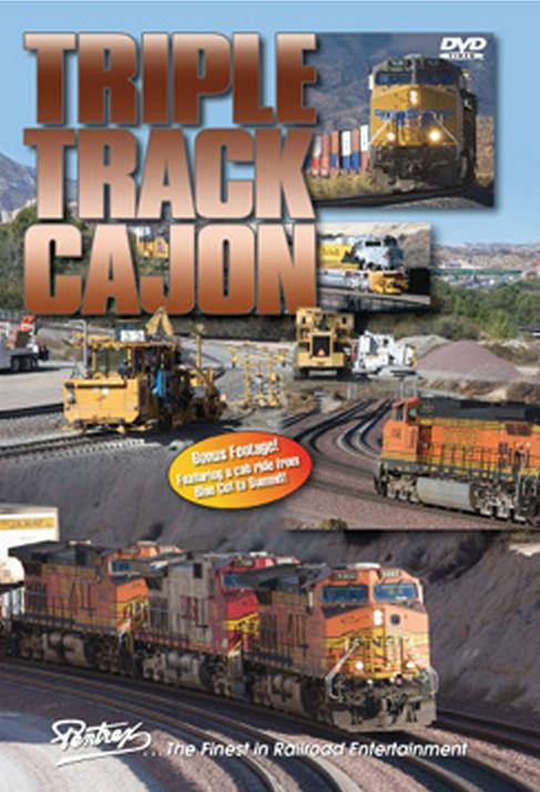 Triple Track Cajon DVD Train Video Pentrex TTC-DVD 748268005404