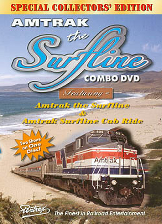 Amtrak the Surfline Combo DVD Train Video Pentrex VRSURF-DVD 748268004612