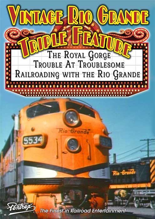 Vintage Rio Grande Triple Feature DVD Pentrex RGTF-DVD 634972958801