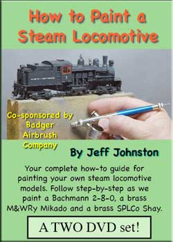 How to Paint a Steam Locomotive 2 DVD Set with Bonus 3rd DVD Pictures and Words Productions PW-PSL