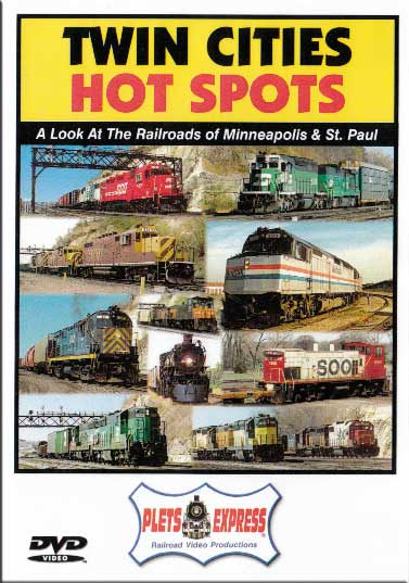 Twin Cities Hot Spots DVD Train Video Plets Express 007TCHS 753182980065