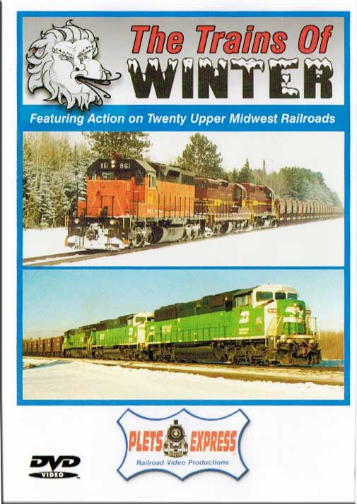 Trains of Winter - Twenty Upper Midwest Railroads DVD Train Video Plets Express 014TOW 753182980911