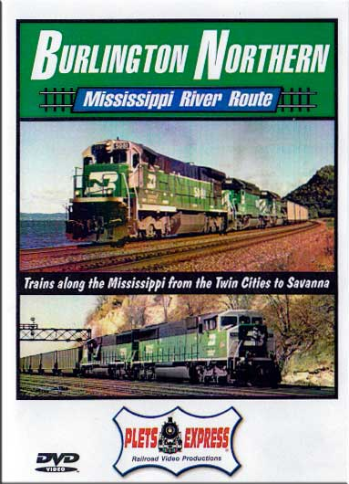 Burlington Northern Mississippi River Route DVD Train Video Plets Express 017BNMR