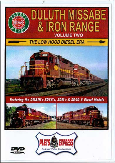 Duluth Missabe & Iron Range Volume 2 - The Low Hood Diesel Era DVD Plets Express 032DMIR2