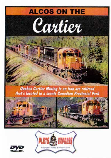 Alcos on the Quebec Cartier Mining Company DVD Train Video Plets Express 034CART
