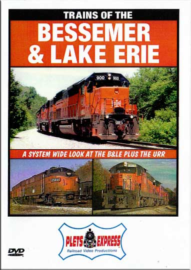 Trains of the Bessemer & Lake Erie DVD Train Video Plets Express 044BLE