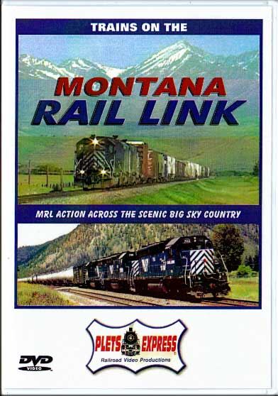 Trains on the Montana Rail Link DVD Train Video Plets Express 051MRL