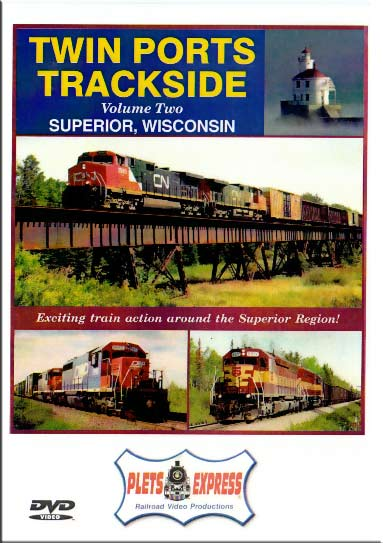 Twin Ports Trackside Vol 2 Superior Wisconsin DVD Train Video Plets Express 054TPT2