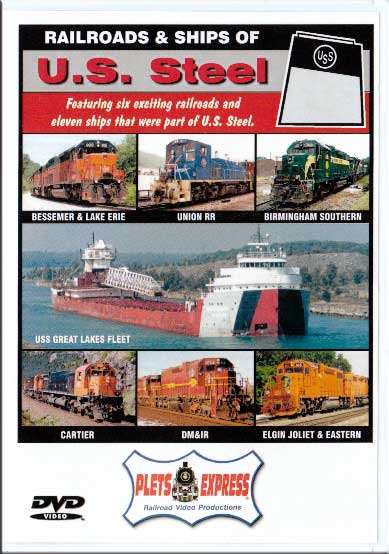 Railroads & Ships of U.S. Steel DVD Plets Express 057USS