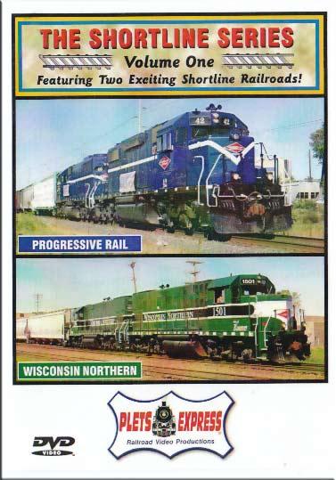 The Shortline Series Vol 1 Progressive Rail & Wisconsin Northern DVD Train Video Plets Express 071TSLS01