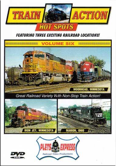 Train Action Hot Spots Vol 6 Moorhead - Iron Jct - Marion DVD Plets Express 075HS06