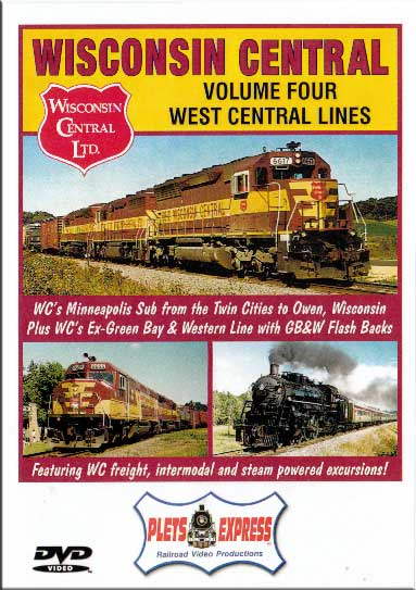Wisconsin Central Vol 4 West Central Lines DVD Train Video Plets Express 082WC4 753182980812