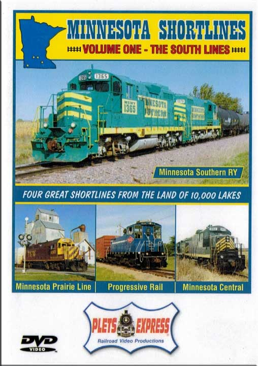 Minnesota Shortlines Volume 1 - The South Lines DVD Train Video Plets Express 086MNS1 753182980850