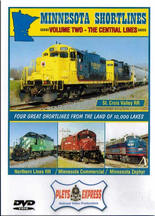 Minnesota Shortlines Volume 2 - The Central Lines DVD Train Video Plets Express 087MNS2 753182980867