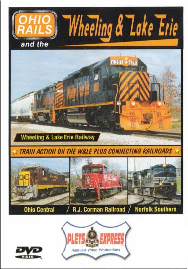 Ohio Rails and the Wheeling & Lake Erie DVD Train Video Plets Express 090ORWLE 7531829802898