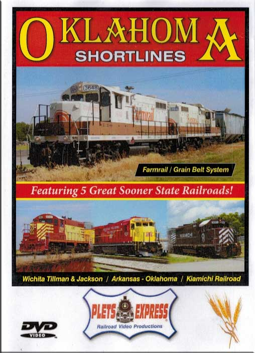 Oklahoma Shortlines Featuring 5 Great Sooner State Railroads! DVD Train Video Plets Express 093OKSL