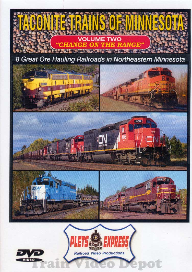 Taconite Trains of Minnesota Volume 2 DVD Plets Express 095TTM2