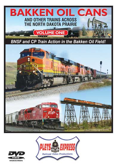 Bakken Oil Cans - Volume 1 and Other Trains Across the North Dakota Prairie DVD Train Video Plets Express 101BOC1